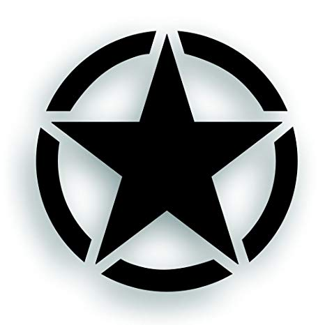 Solar Graphics USA Military Invasion Star With Circle Decal.