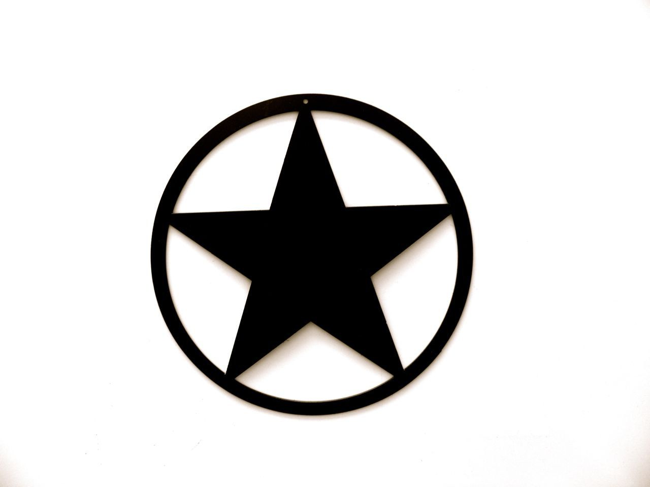 Star Symbol in Circle Logo.