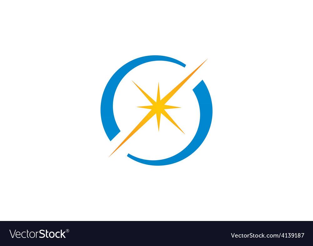 Spark star shine circle logo.