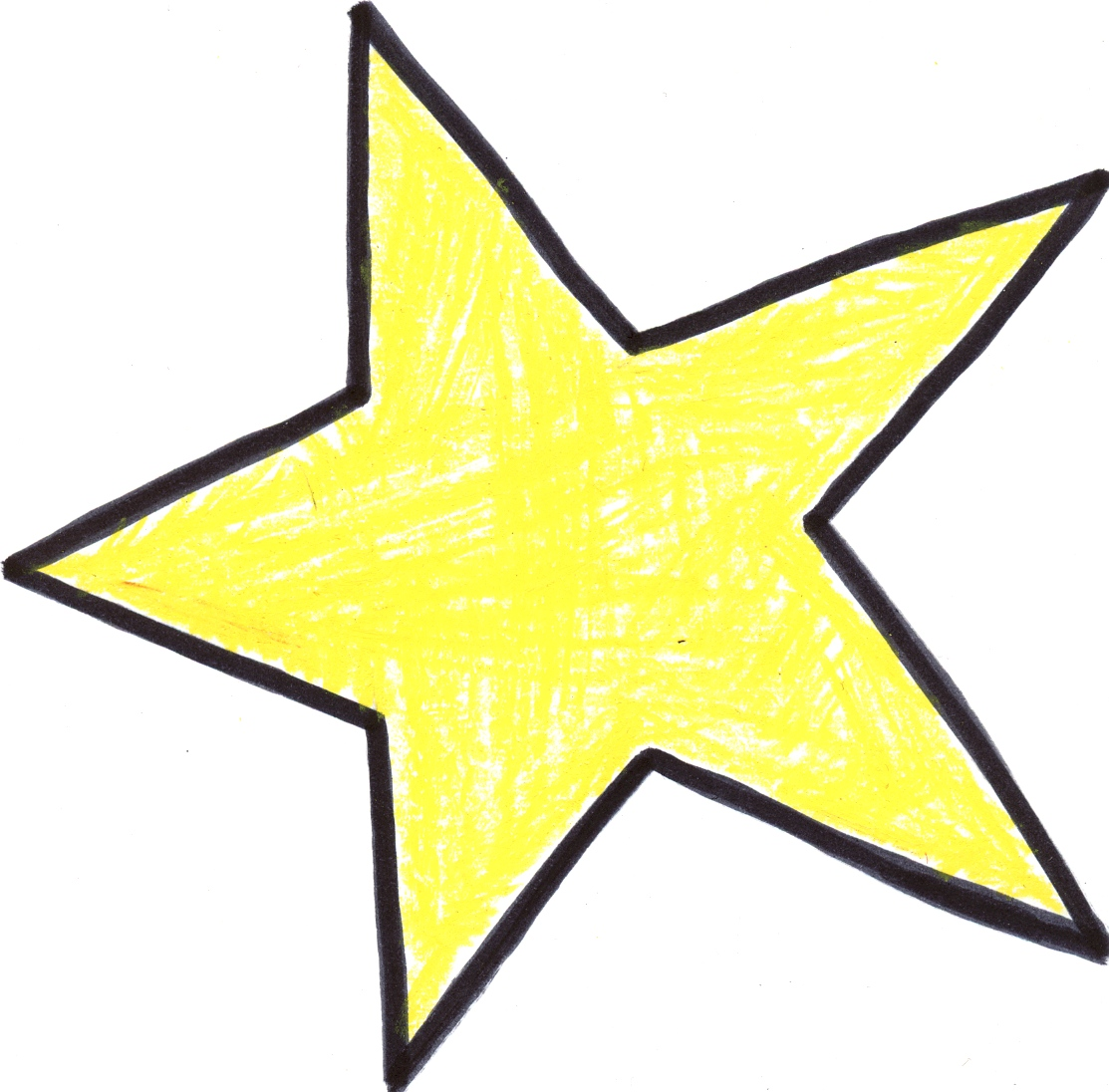 Hand drawn star clipart.