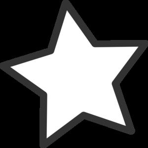 White Star Clip Art at Clker.com.