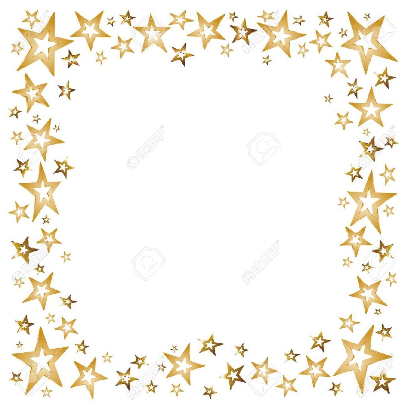Free Gold Star Border Transparent, Download Free Clip Art.