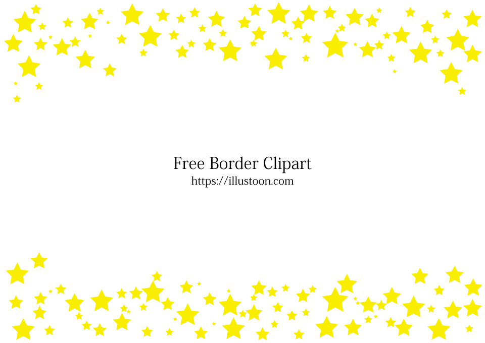 Free Many Stars Border Image|Illustoon.