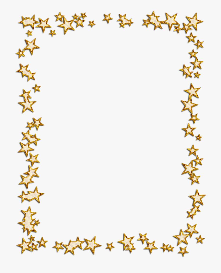 Gold Star Clipart Border.