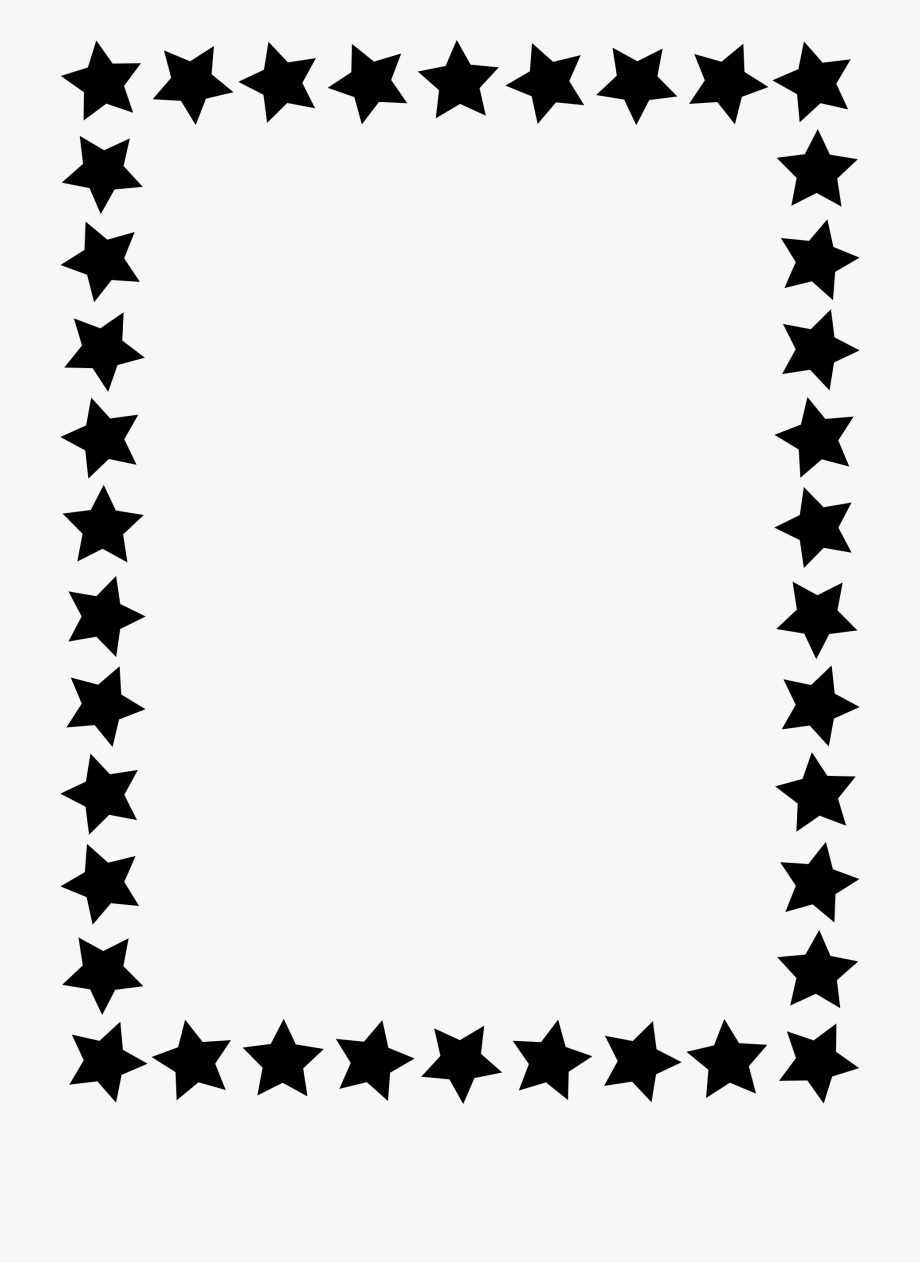 Star Clipart Picture Frame.