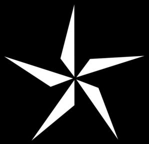 star clipart black & white.