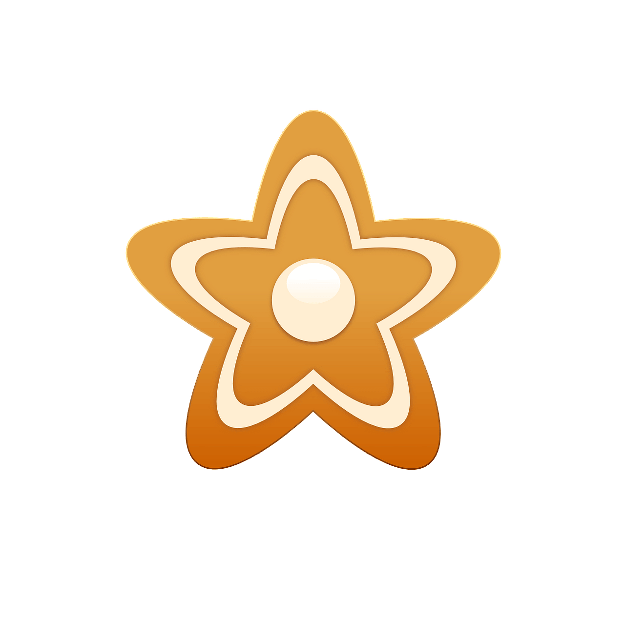 Gingerbread star clipart. Free download..