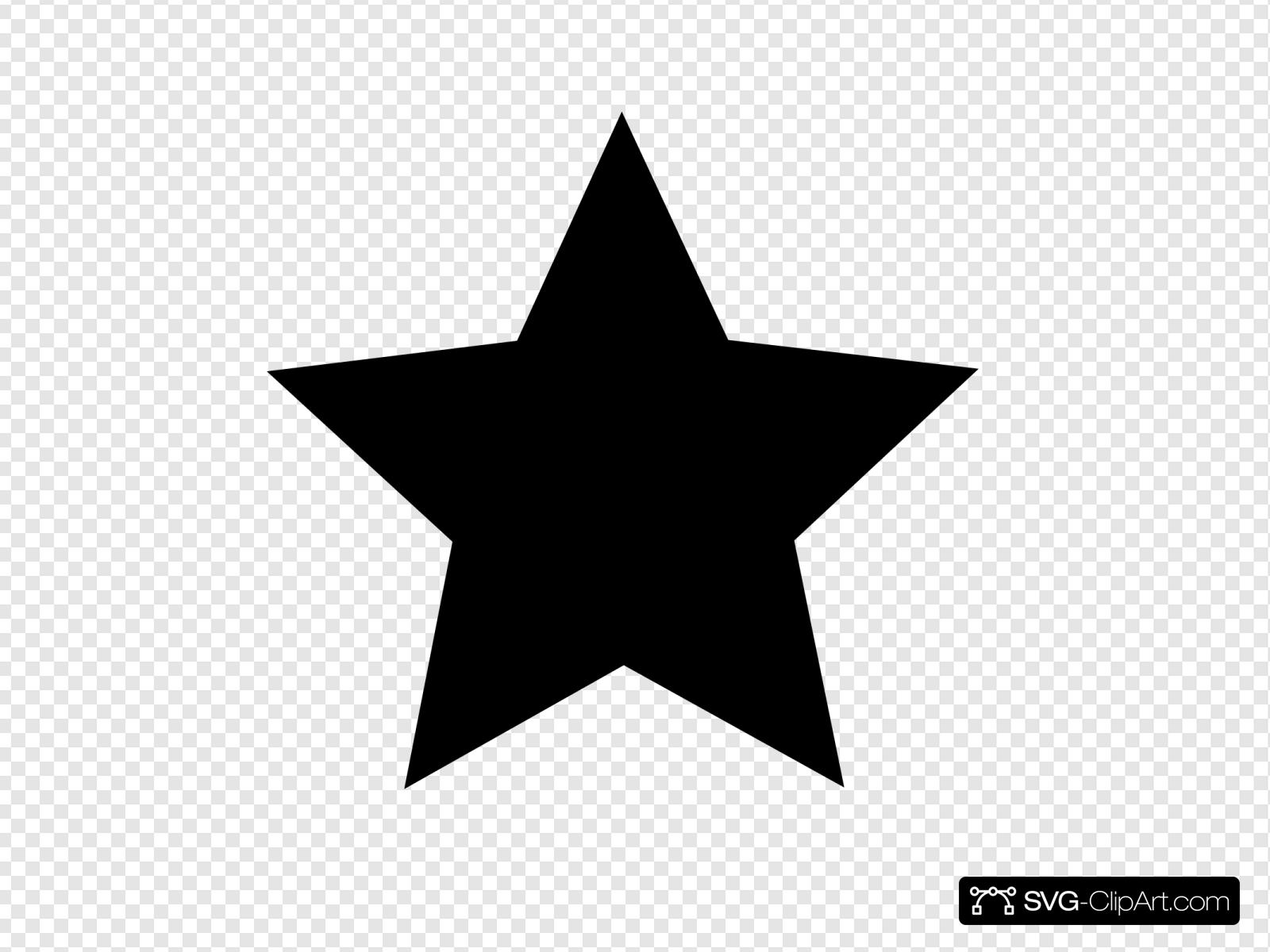 Black Star Clip art, Icon and SVG.