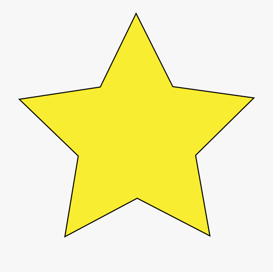 Simple Star Clip Art.