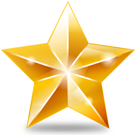 Bright Star Clipart Christmas transparent PNG.
