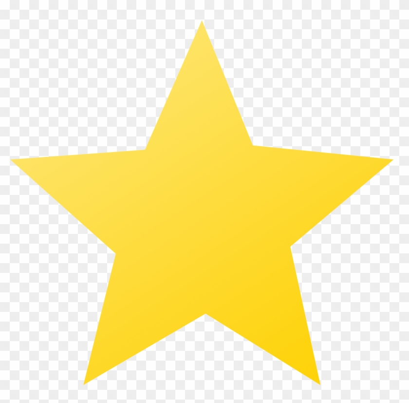 Yellow Star With Black Background , Png Download.