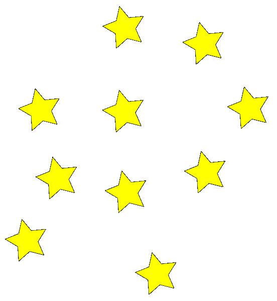 Image of Star Border Clipart #11244, Star Clusters Border Clip Art.