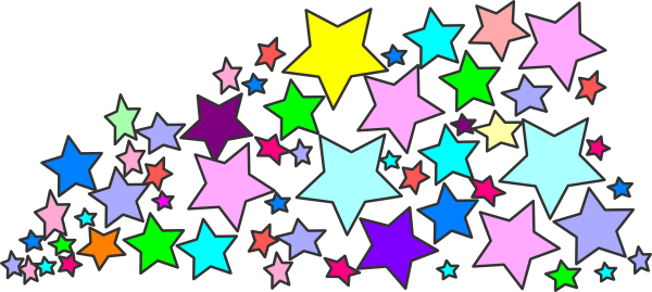 Free Colorful Stars Clipart Image.