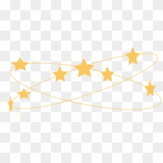 Tumblr Kawaii Cute Crown Stars Aesthetic Yellow Korean.