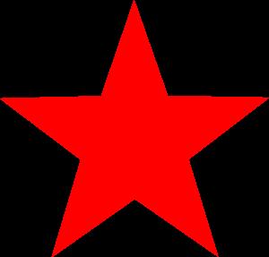 Red star SVG Vector file, vector clip art svg file.