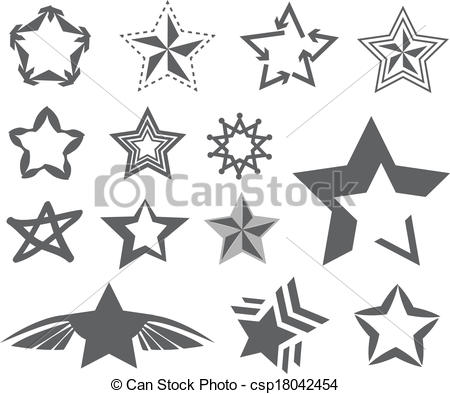 Clipart Vector of Star design on white background vector.