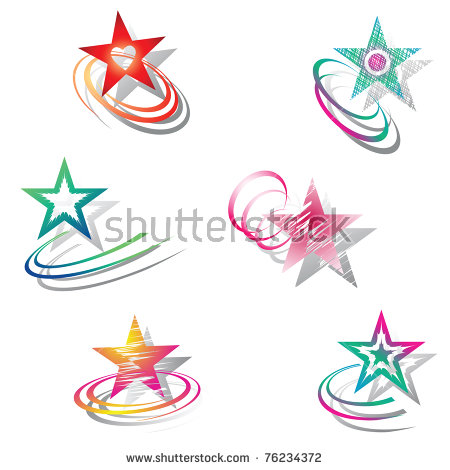 Star Design Stock Images, Royalty.