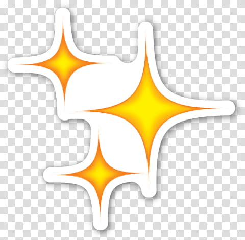 EMOJI STICKER , three yellow stars illustration transparent.