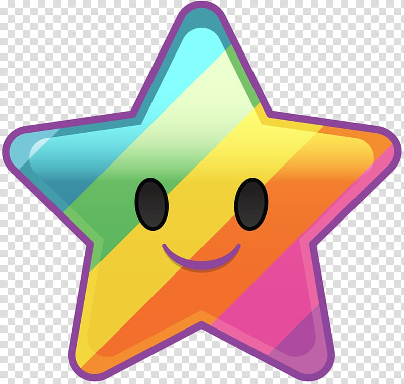 Multicolored star illustration, Disney Emoji Blitz: Inside.