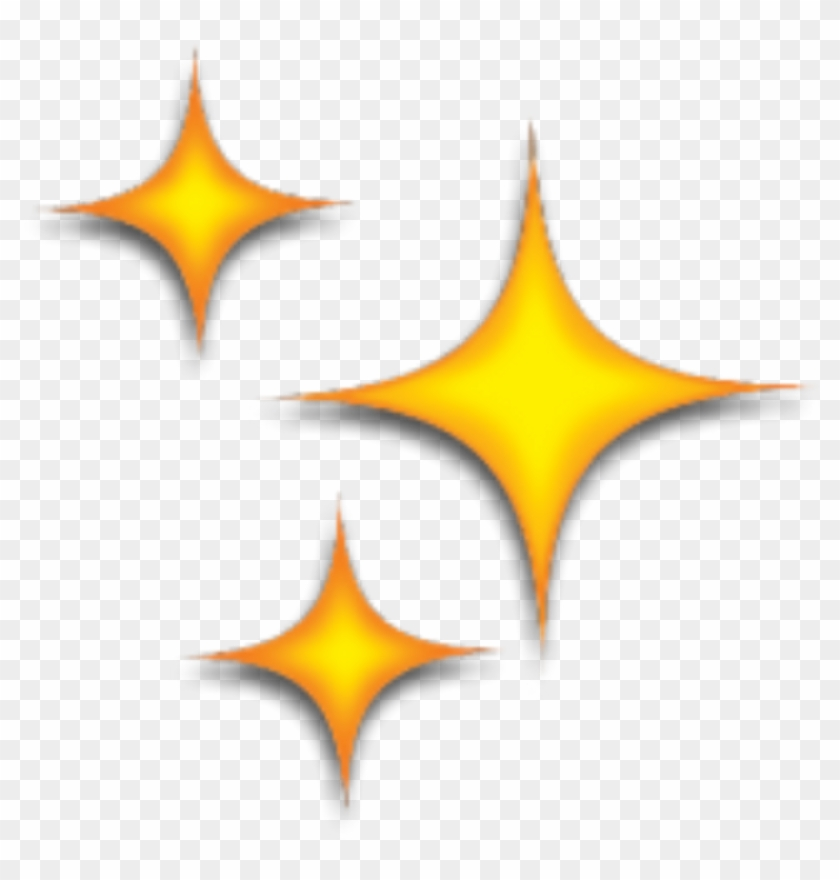 stars #star #yellow #emoji #emojis #tumblr #kawaii, HD Png.