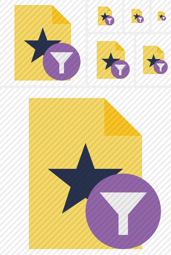 File Star Filter Icon. Flat. Professional Stock Icon and Free Sets.