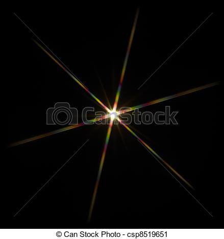 Stock Photography of flashy star in black back.