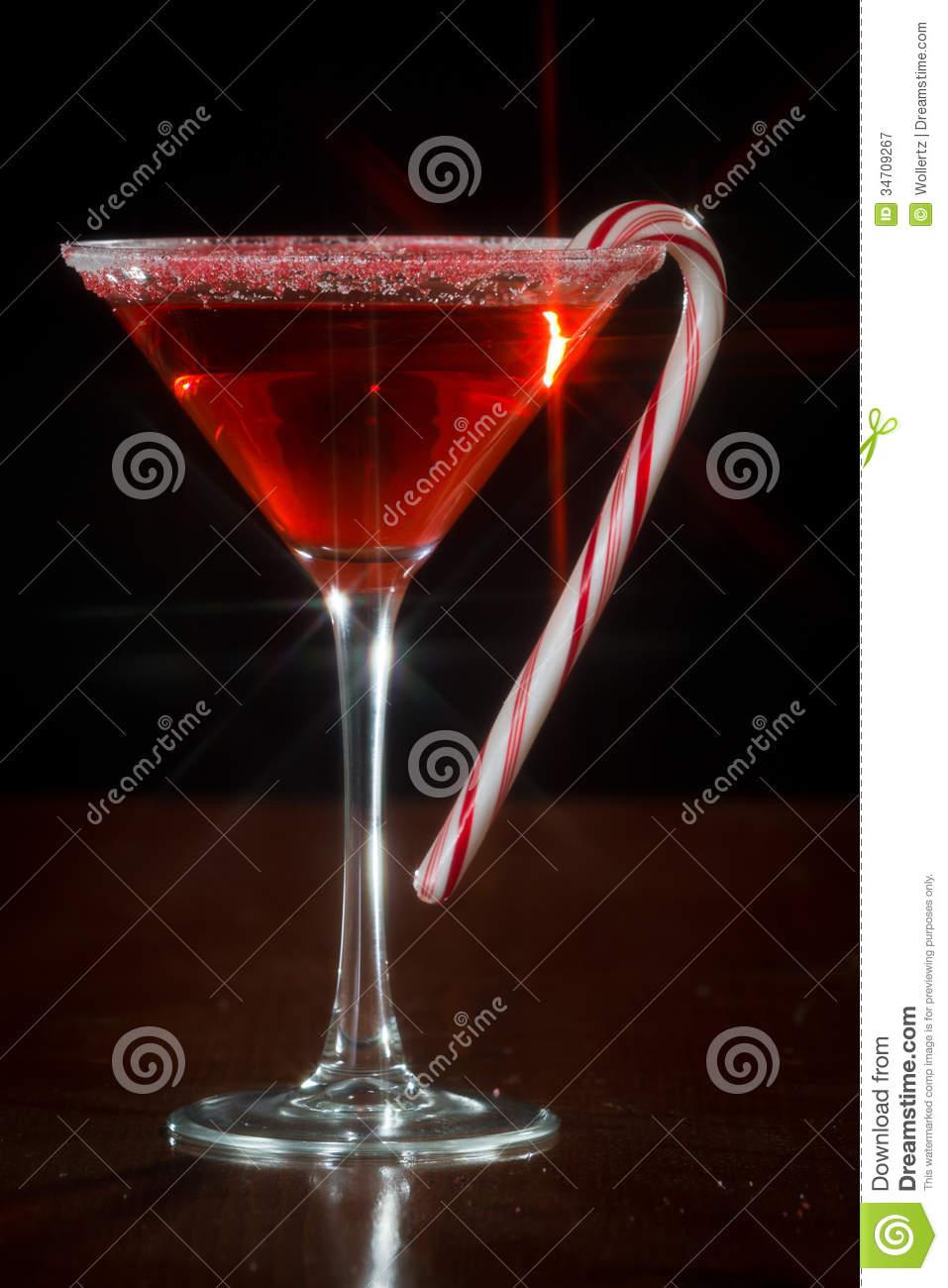 Christmas Martini Royalty Free Stock Photography.
