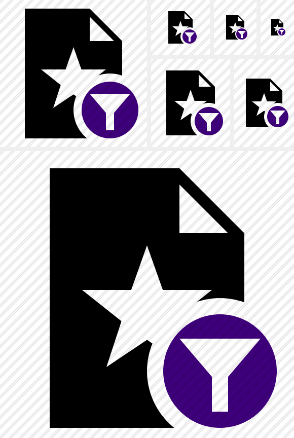 File Star Filter Icon. Symbol Duo. Professional Stock Icon and.