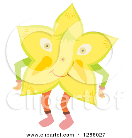 Clipart of a Carambola Star Fruit.