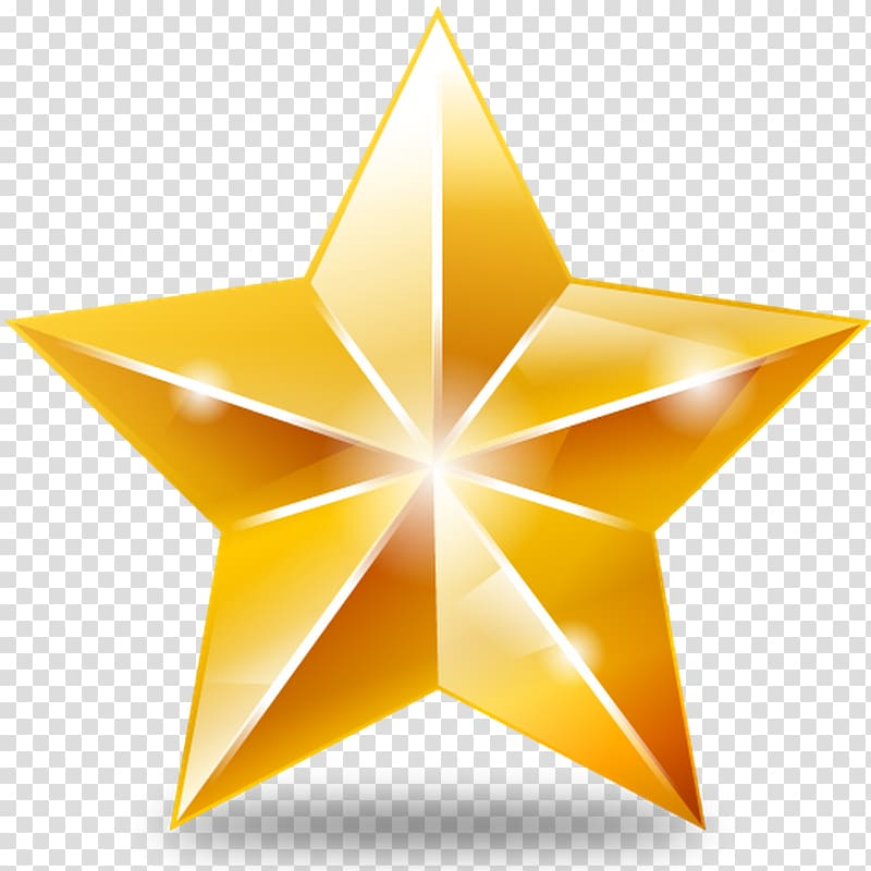 Computer Icons Star , shining star transparent background.