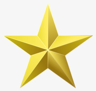 Free Gold Star Clip Art with No Background.