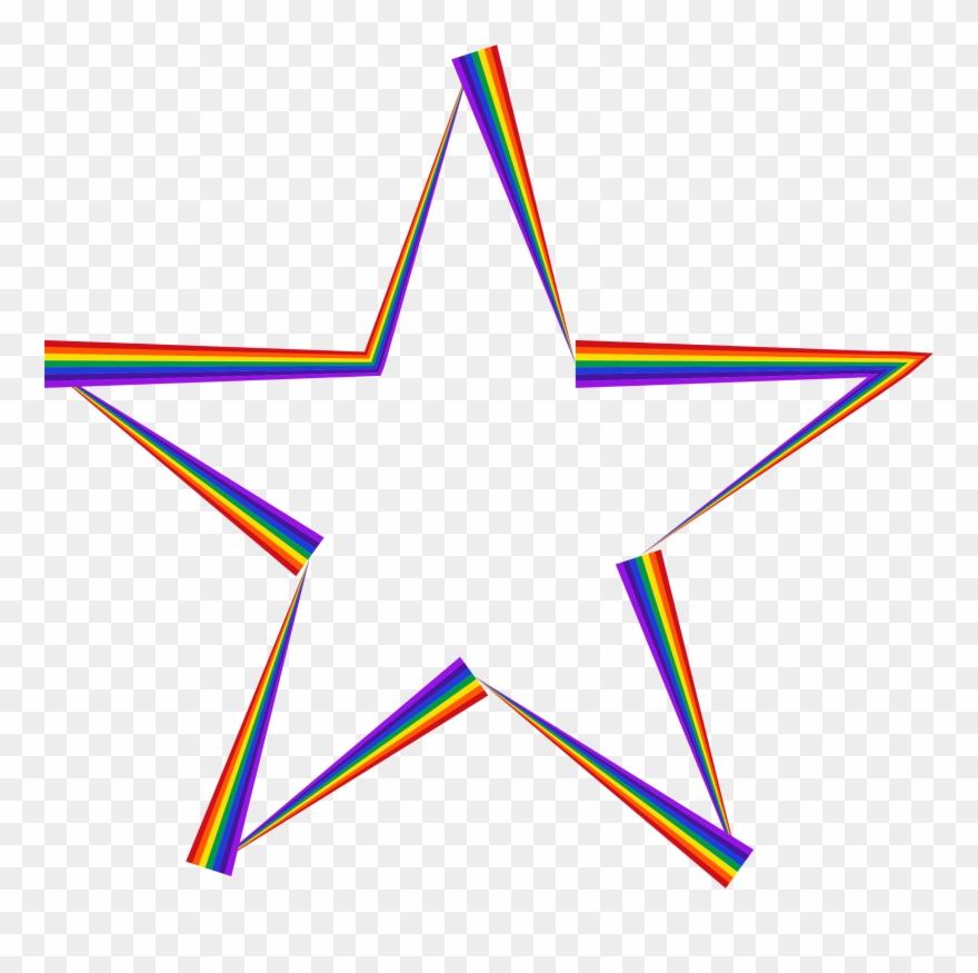 Jpg Library Download Rainbow Stars Clipart.