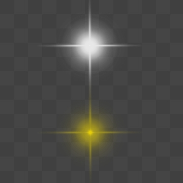 Star Light Effect PNG Images.
