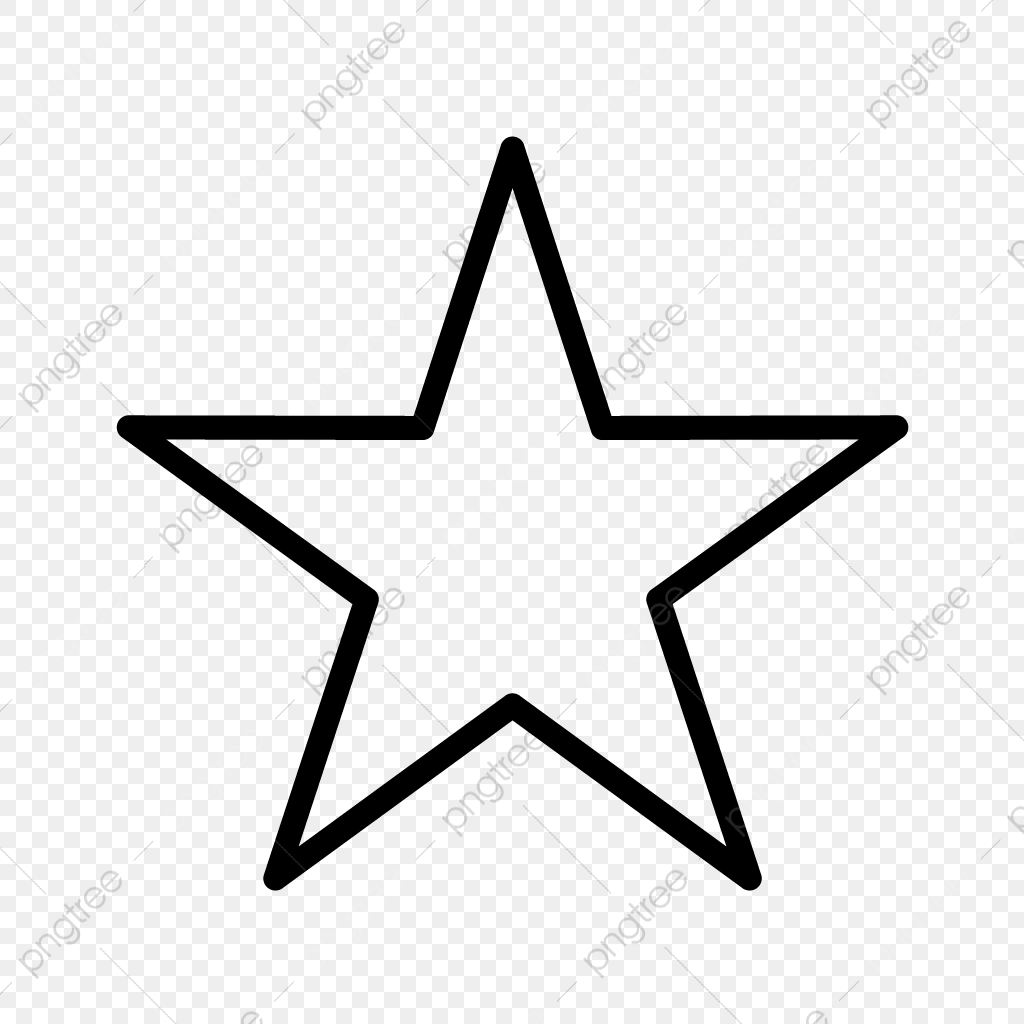 Star Line Black Icon, Star, Faveourite, Fave PNG and Vector.