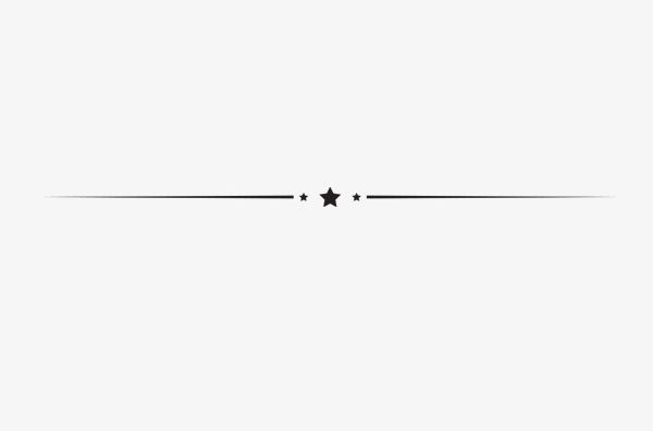Star Horizontal Line Decoration Elements PNG, Clipart, Air.