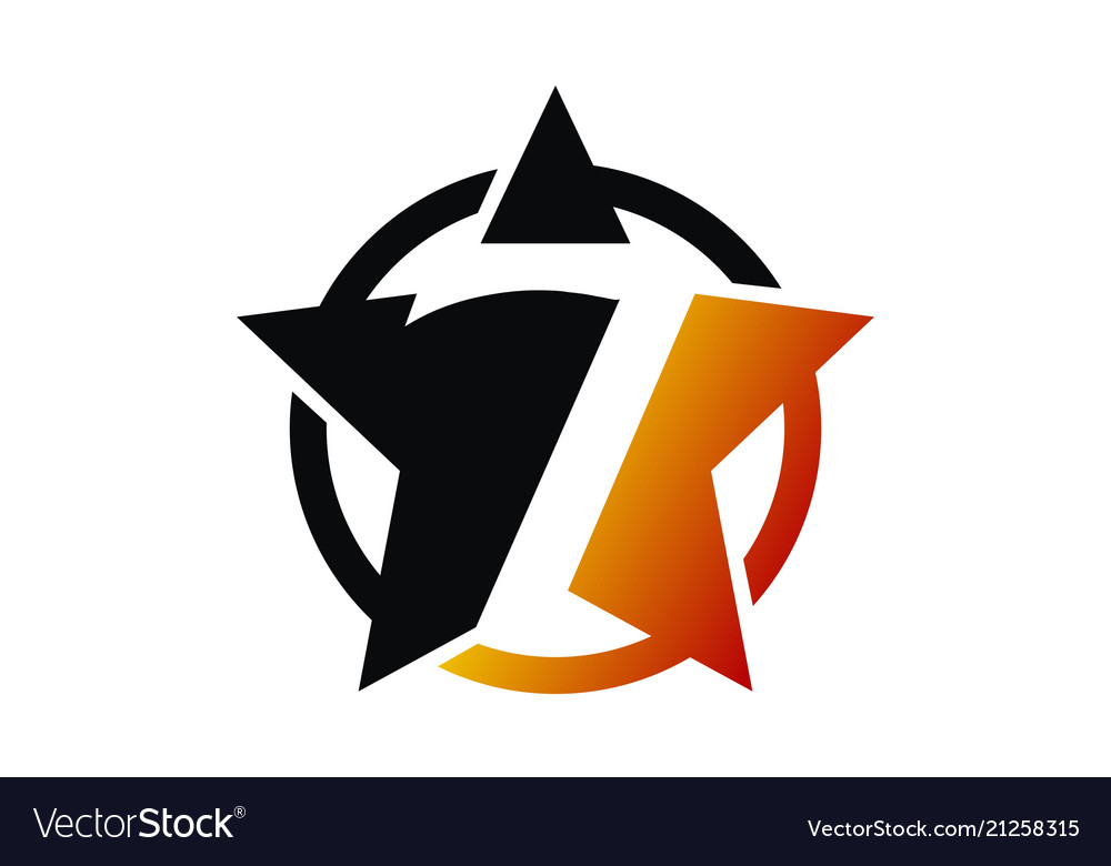 Seven star logo design template.