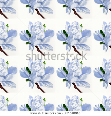 Magnolia Repeating Pattern Stock Photos, Images, & Pictures.