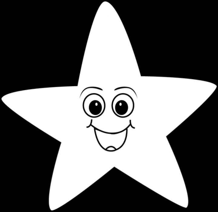 Black And White Happy Face Star Clip Art Black And White Happy.