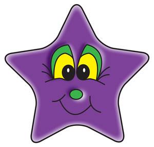 Purple Star Clipart.