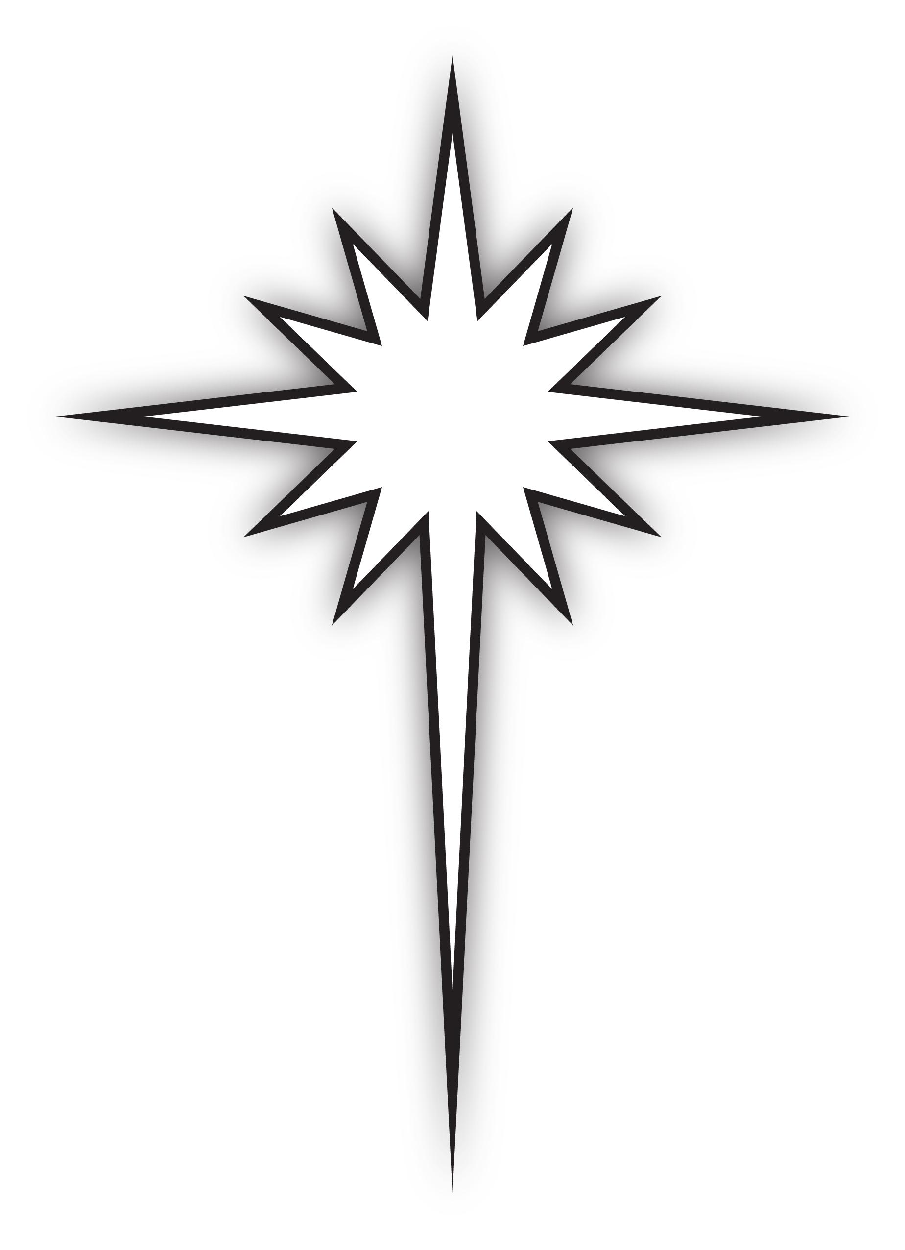 Star Of Bethlehem Black And White Clipart.