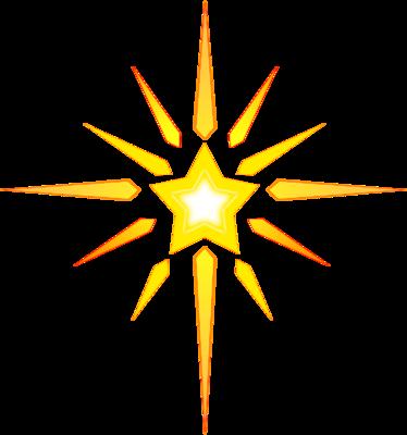 Christmas Star Over Bethlehem Clipart.