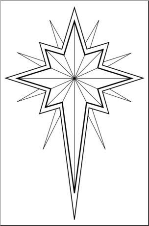 Star of bethlehem clipart free.