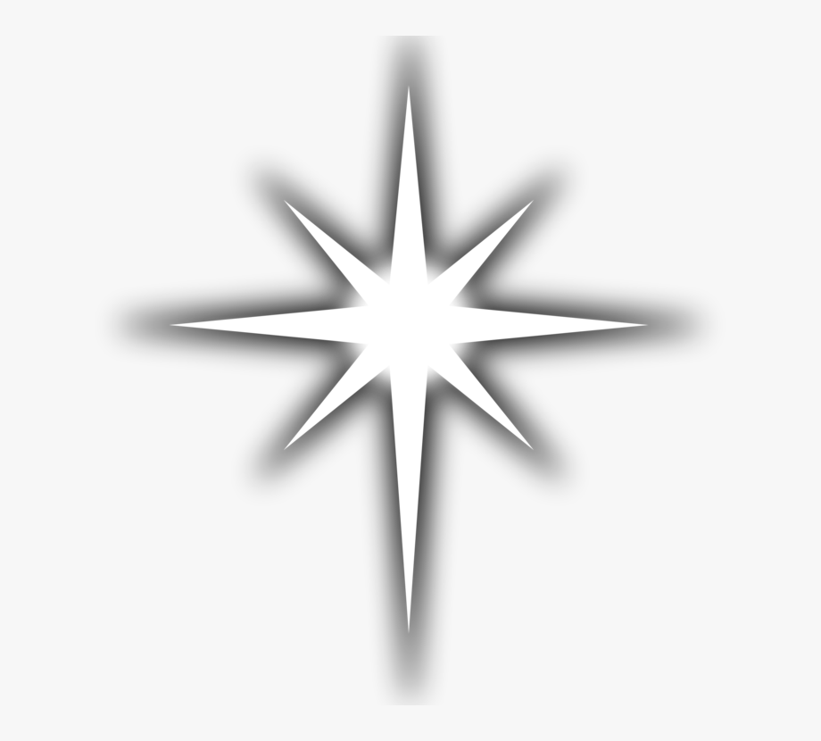 Clip Art Christmas Drawing Star Of Bethlehem Line Art.