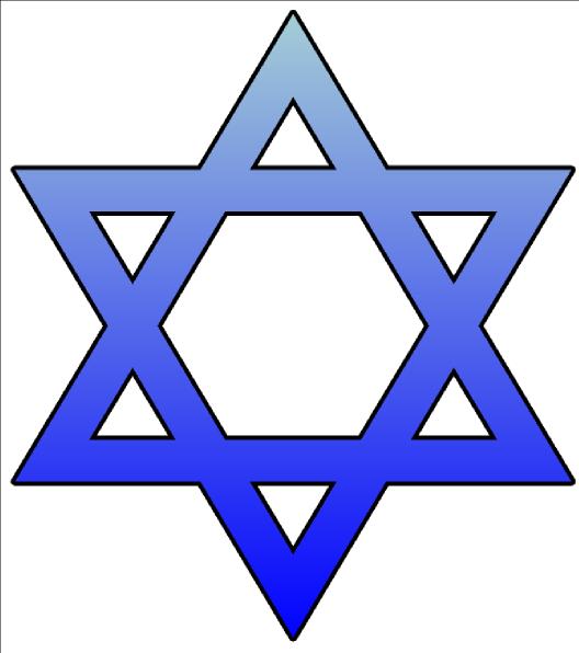Jewish Star Of David Clip Art N4 free image.