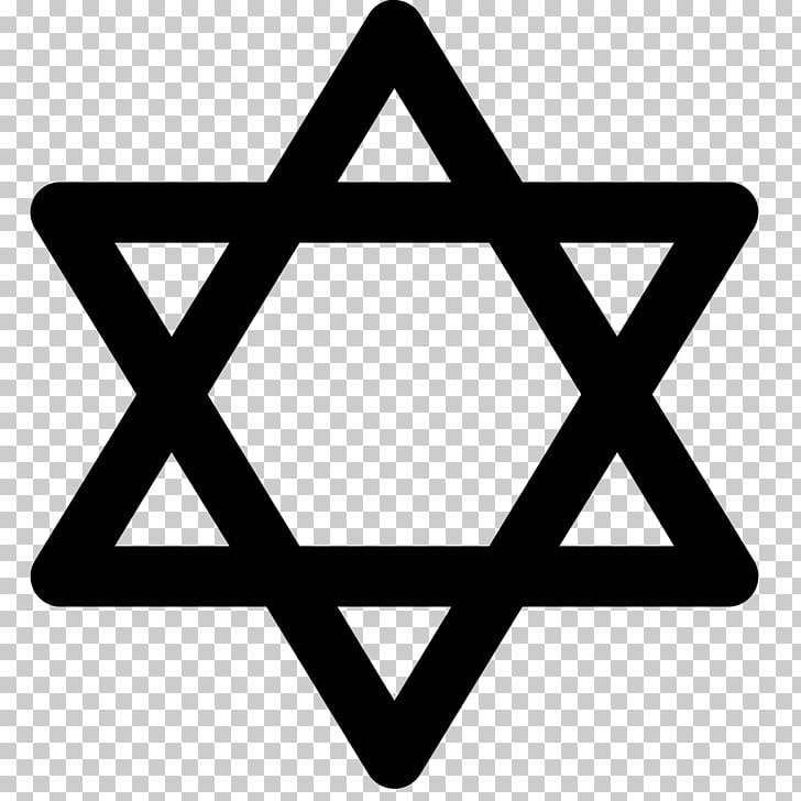 Star of David Judaism Jewish symbolism Hexagram , satin PNG.