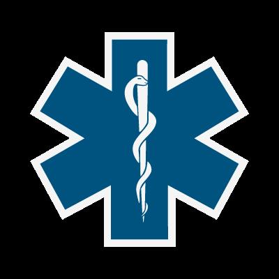 Star of Life vector logo.