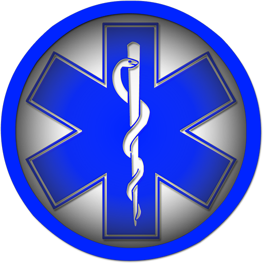 Blue star of life symbol round shape clipart image.