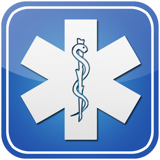 Star of life symbol button clipart image.
