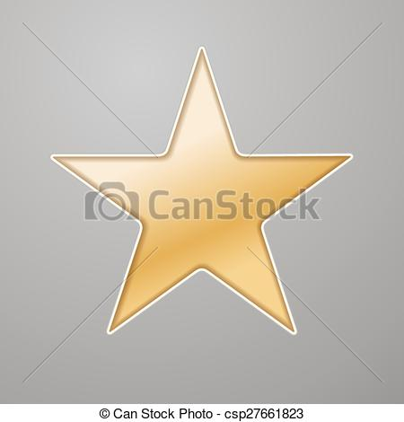 Vector Illustration of golden star background cut out in grey.