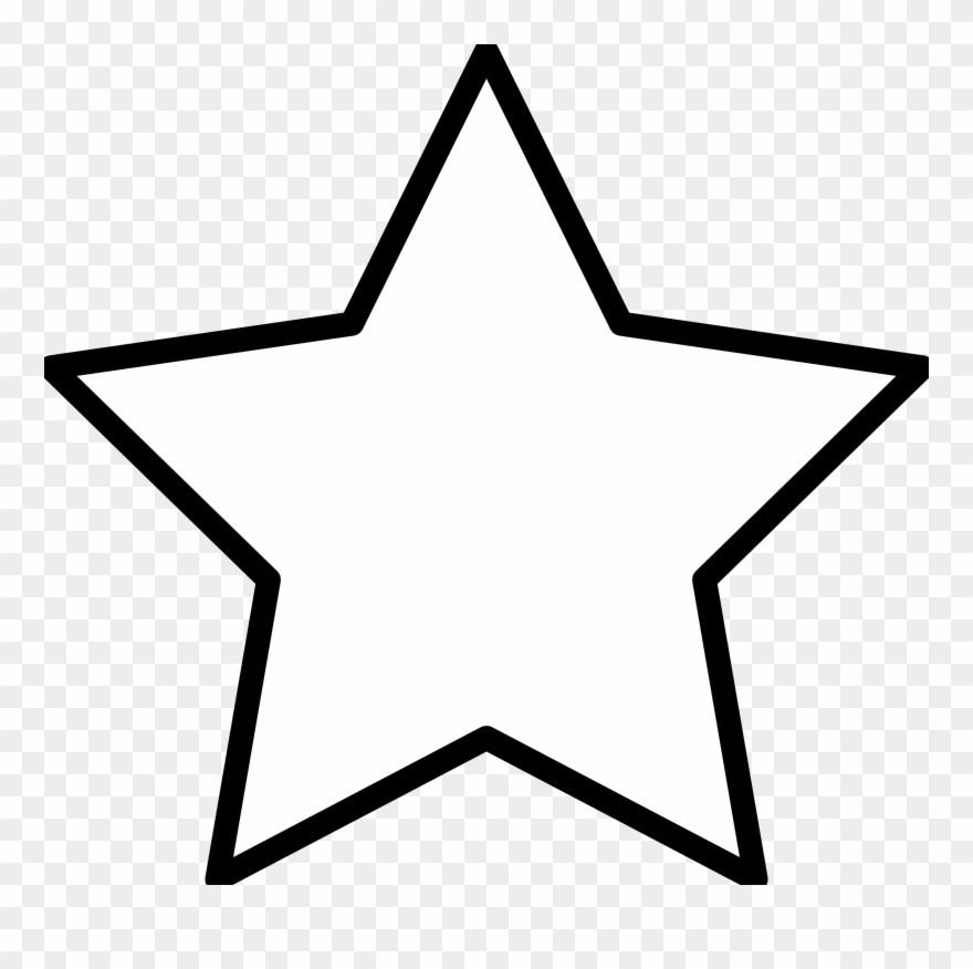 Graphic Free Stock Star Silhouette Outline Clip Art.